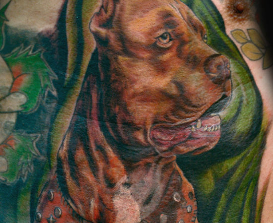a2692a0cc711c Fighting Pit Bull Tattoos | Good Pit Bulls