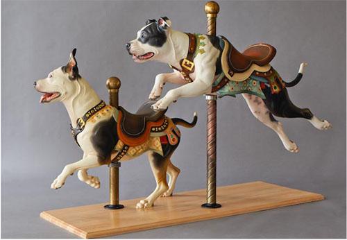 pit bull dog carousel