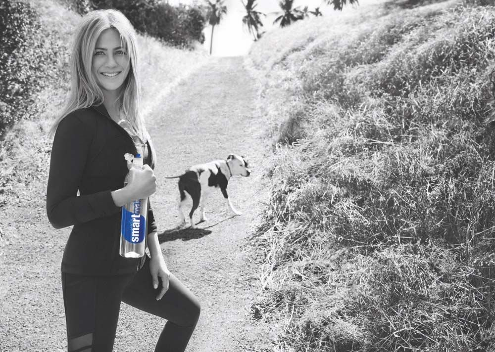 jennifer aniston smart water campaign